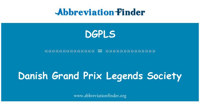 DGPLS: Danish Grand Prix Legends Society