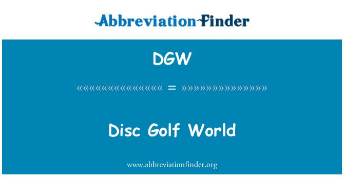 DGW: Disc Golf World