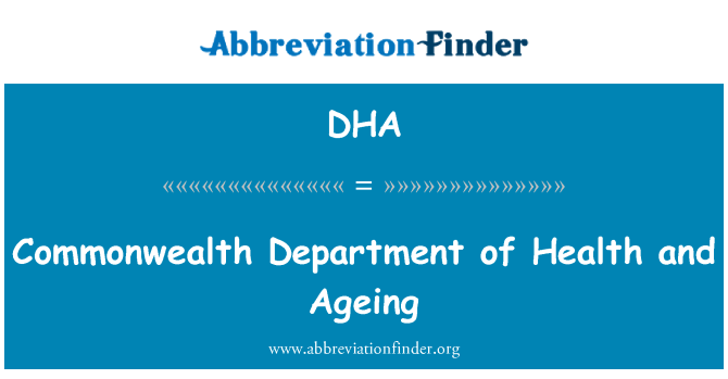 DHA: Commonwealth Department of Health and Ageing