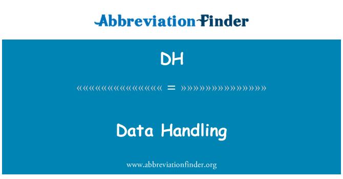 DH: Data Handling