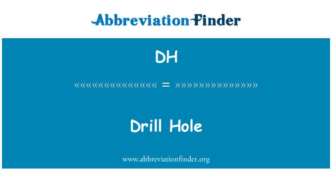DH: Drill Hole