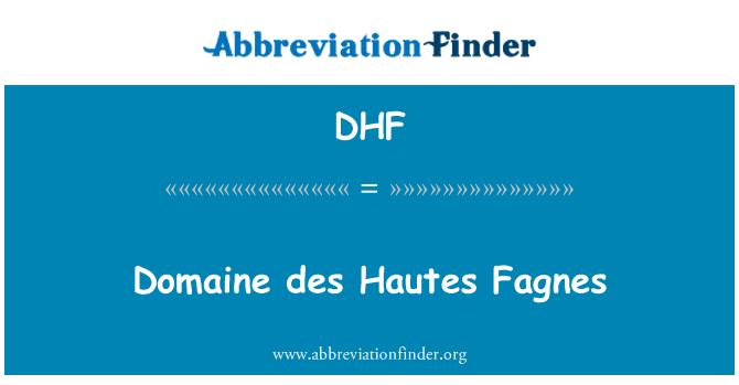 DHF: Domaine des Hautes Fagnes