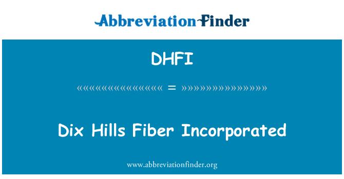DHFI: Dix Hills Fiber Incorporated