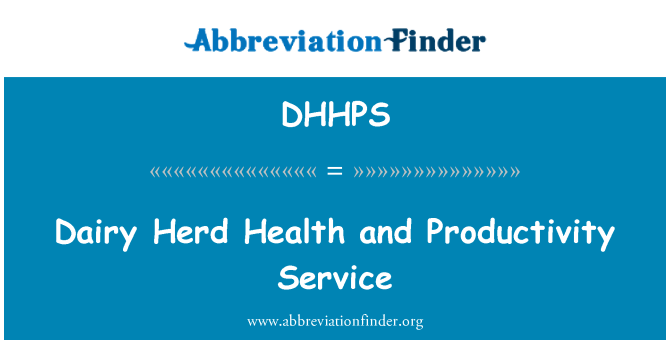 DHHPS: Dairy Herd Health and Productivity Service