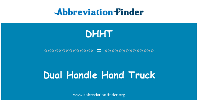 DHHT: Dual Handle Hand Truck