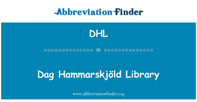 DHL: Dag Hammarskjöld Library