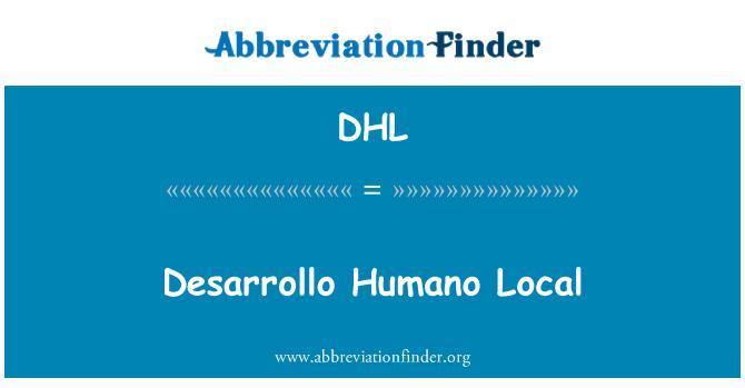 DHL: Desarrollo Humano Local