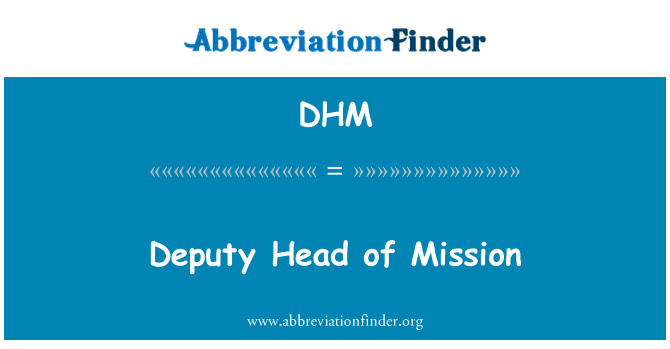DHM: Deputy Head of Mission