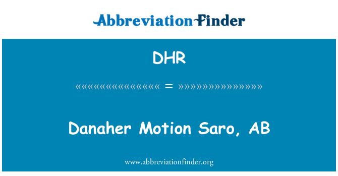 DHR: Danaher Motion Saro, AB