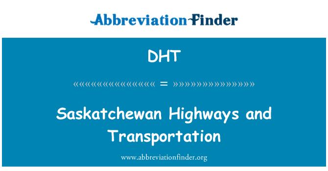 DHT: Saskatchewan Highways and Transportation