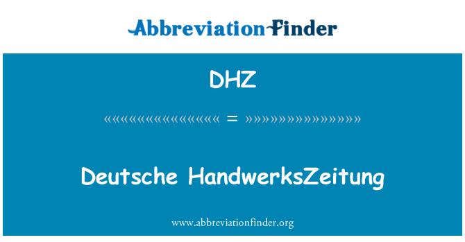 DHZ: Deutsche HandwerksZeitung