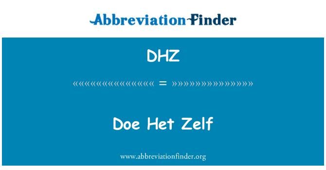 DHZ: Doe Het Zelf