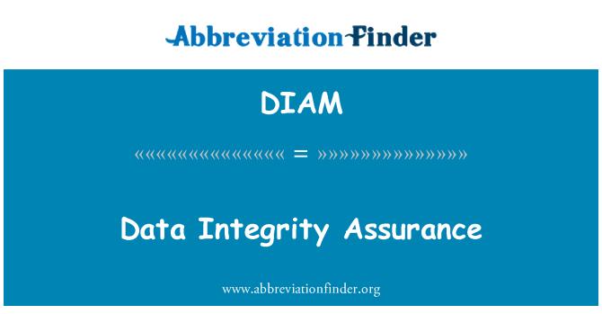 DIAM: Jaminan integriti data