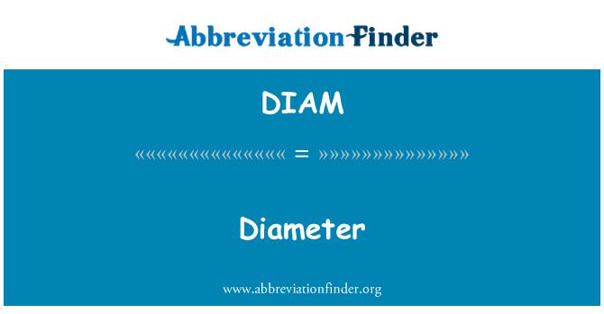 DIAM: 直径