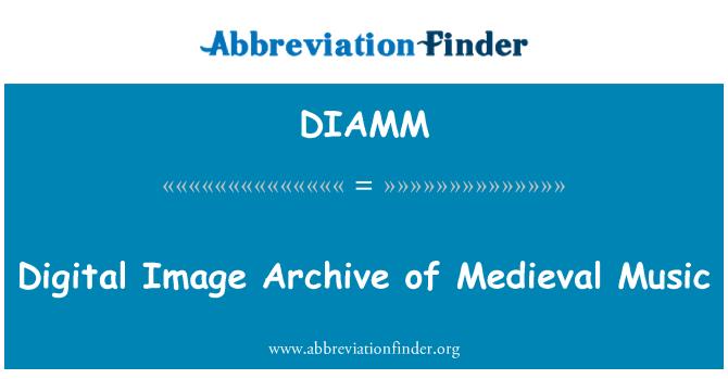 DIAMM: Archivo de la imagen digital de la música Medieval