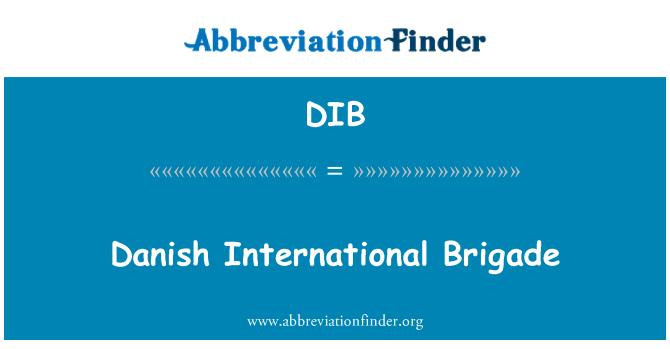 DIB: Danish International Brigade