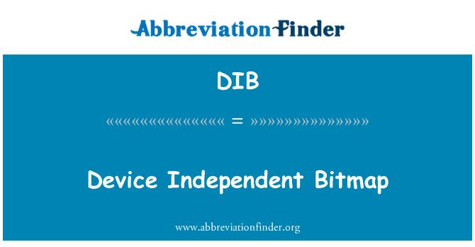 DIB: Device Independent Bitmap