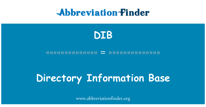 DIB: Directory Information Base