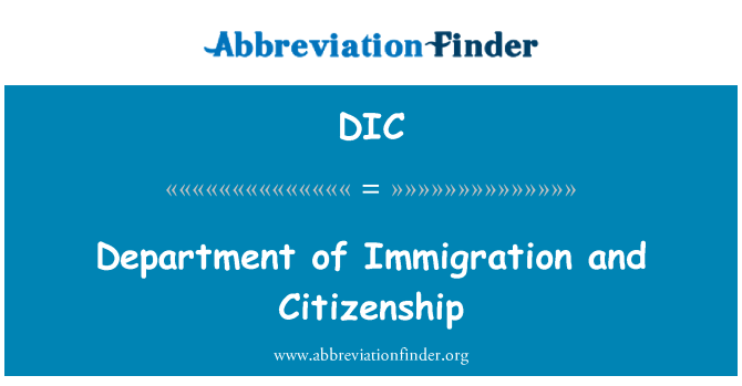 DIC: Department of Immigration and Citizenship