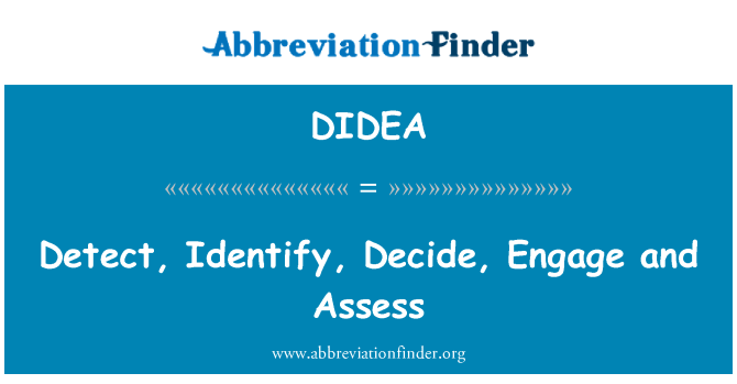 DIDEA: Detect, Identify, Decide, Engage and Assess
