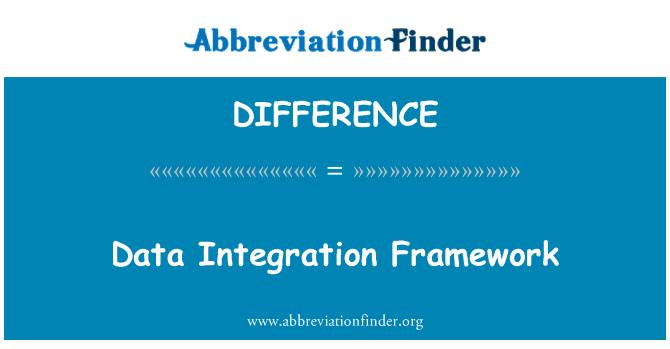 DIFFERENCE: Veri Tümleştirme Çerçevesi