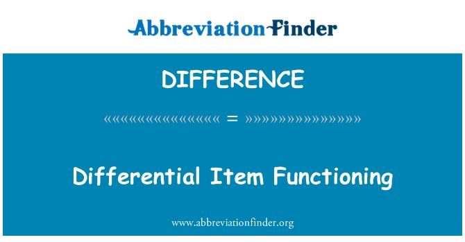 DIFFERENCE: Różnicy przedmiotu funkcjonowania