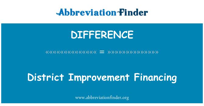 DIFFERENCE: İlçe geliştirme finansmanı
