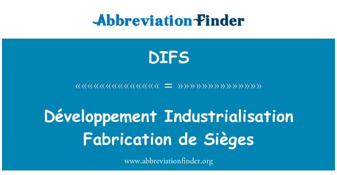 DIFS: Développement Industrialisation Fabrication de Sièges