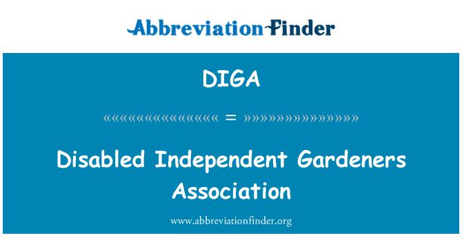 DIGA: Engelli bağımsız bahçıvanlar Derneği