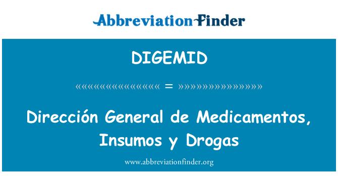 DIGEMID: Dirección General de Medicamentos, Insumos y Drogas