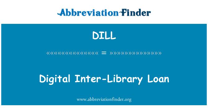 DILL: Dijital Kütüphane arası kredi