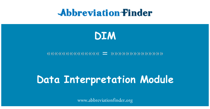 DIM: Data Interpretation Module