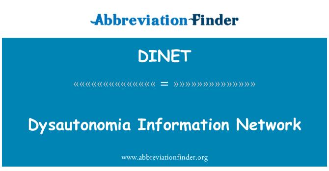 DINET: Dysautonomia bilgi ağı