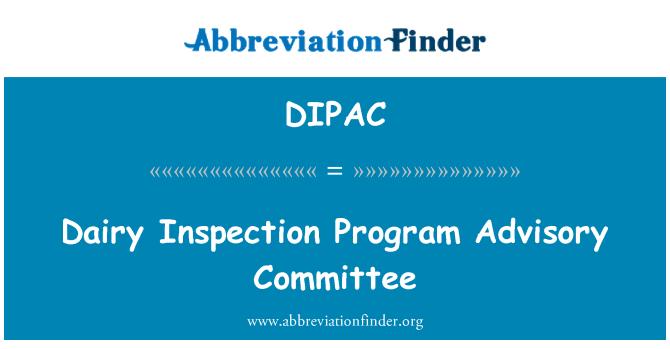 DIPAC: Dairy Inspection Program Advisory Committee