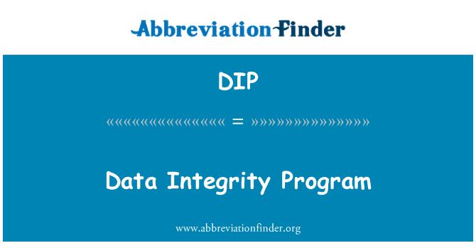 DIP: Data Integrity Program