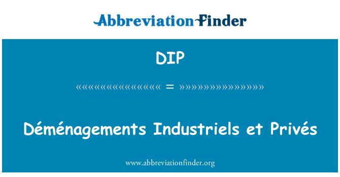 DIP: Déménagements Industriels et Privés