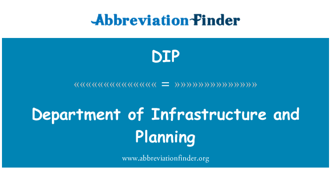 DIP: Department of Infrastructure and Planning