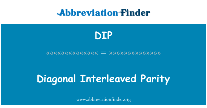 DIP: Diagonal Interleaved Parity