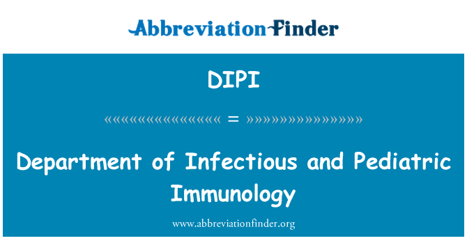 DIPI: Department of Infectious and Pediatric Immunology
