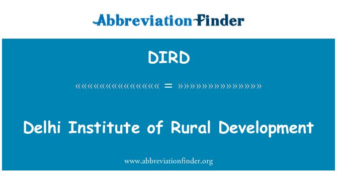 DIRD: دیہی ترقی کے دہلی انسٹیٹیوٹ
