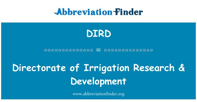 DIRD: Dirección de investigaciones de riego & desarrollo