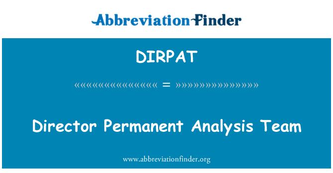 DIRPAT: Equipo de director permanente análisis