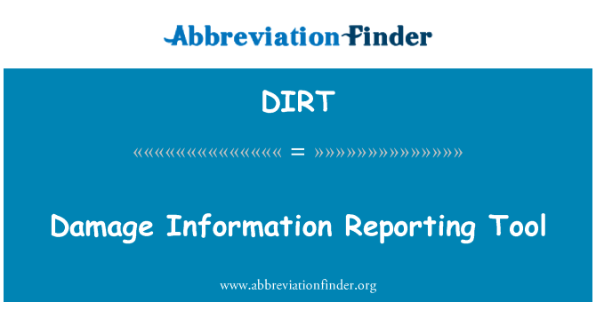 DIRT: Damage Information Reporting Tool
