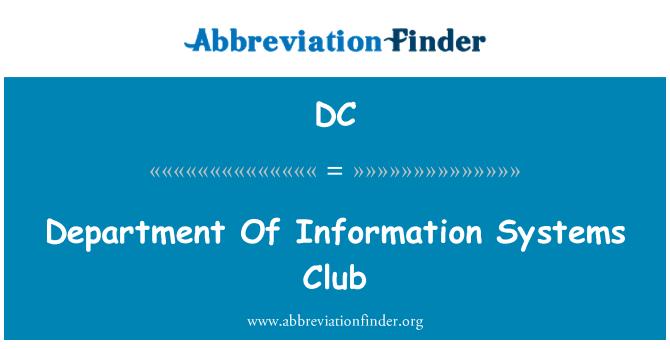 DC: Jabatan Penerangan sistem Club