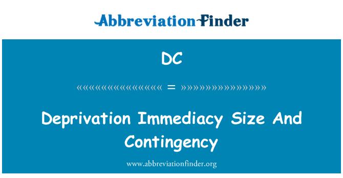DC: Saiz langsung selama-lamanya, dan kontigensi
