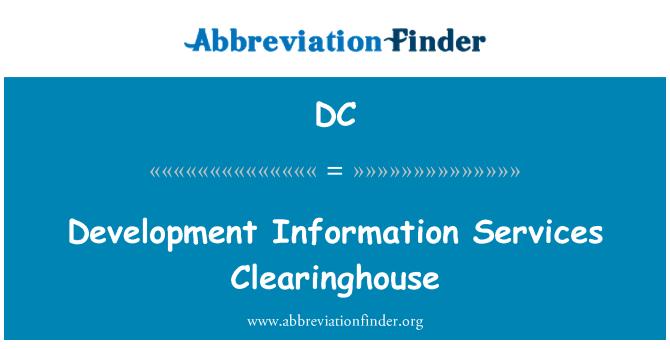 DC: Pembangunan maklumat perkhidmatan Clearinghouse