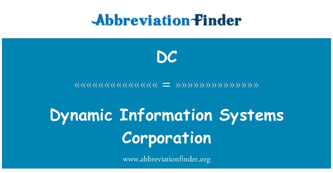 DC: Dinamik maklumat sistem Perbadanan