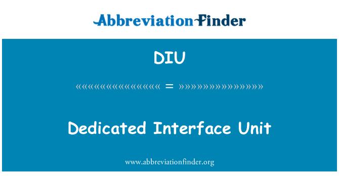 DIU: Dedicated Interface Unit