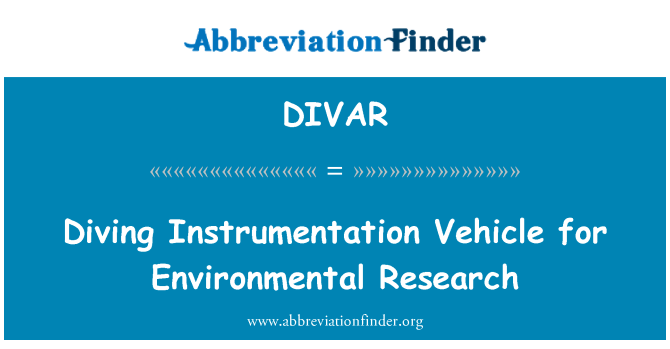 DIVAR: Diving Instrumentation Vehicle for Environmental Research