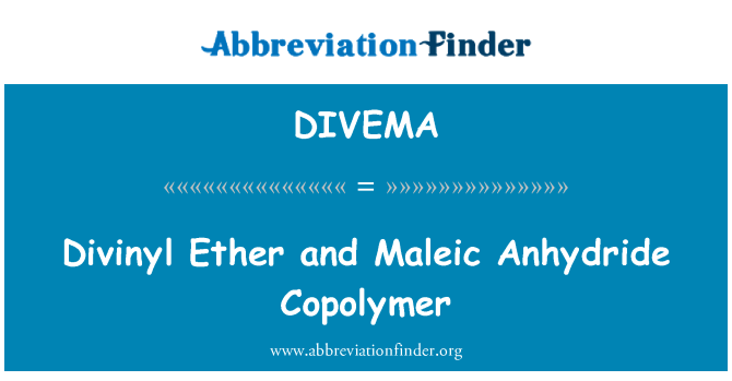 DIVEMA: Divinyl Ether and Maleic Anhydride Copolymer